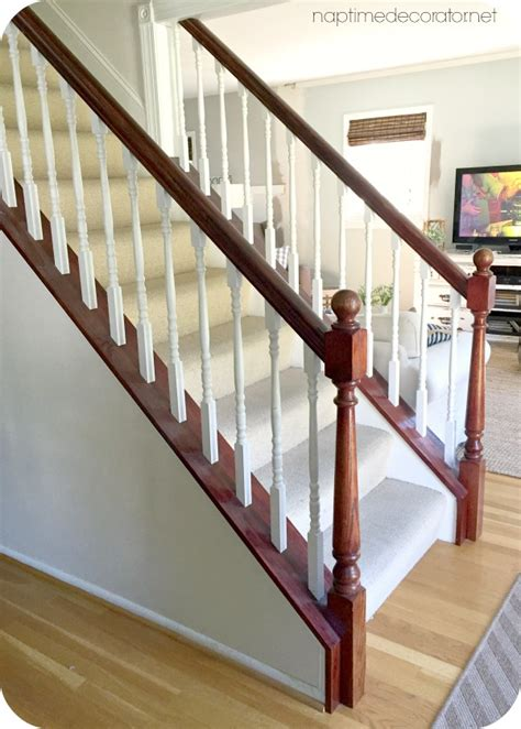 stripping paint from wood banisters jave gel stained banister one year update