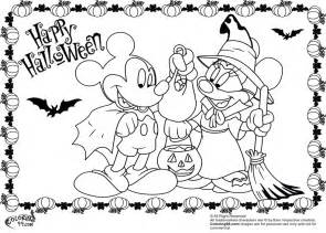 halloween mickey mouse coloring pages kids coloring