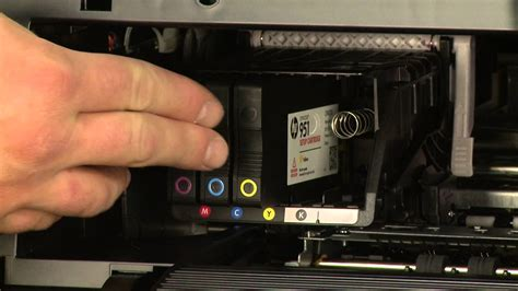 Switch Catridge 6 In 1 replacing a print cartridge on the hp officejet pro 8630 all in one printer