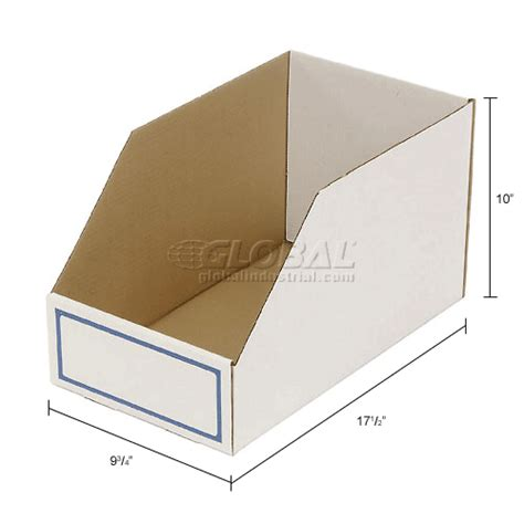 Corrugated Shelf Bins bins totes containers bins shelf nesting foldable corrugated shelf bin 9 3 4 quot w x 17 1 2