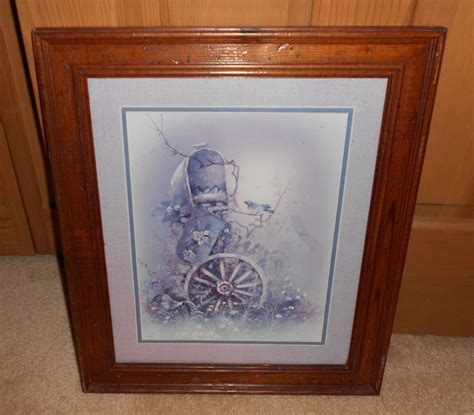 Vintage Home Interior Pictures by Vintage Home Interior Wagon Wheel And Mailbox Framed
