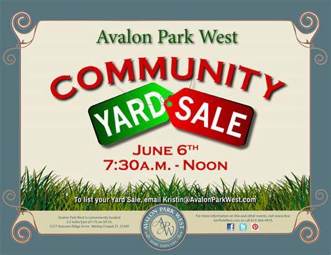 Garage Sales In My Area Community Yard Sale 7 30a Noon
