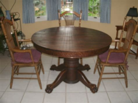 Antique Oak Dining Room Table Value Of Antique Oak Tiger Claw Dining Table My Antique Furniture Collection