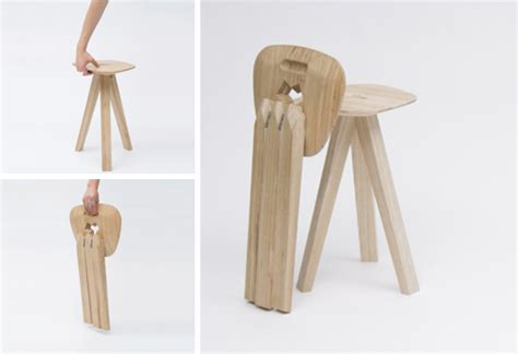 3 legged folding stool with back 3 legged folding stool combines gravity strength style