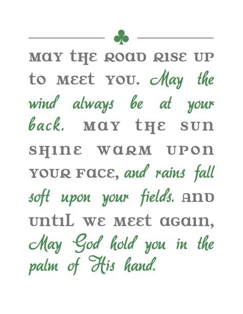 printable irish quotes irish blessing printables