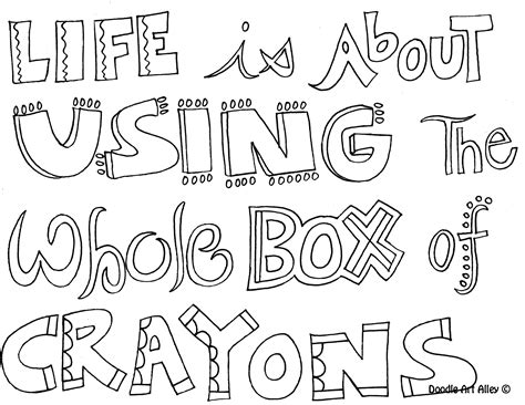 printable quotes to color doodle quotes to print quotesgram