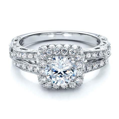 split shank halo engagement ring vanna k 100074