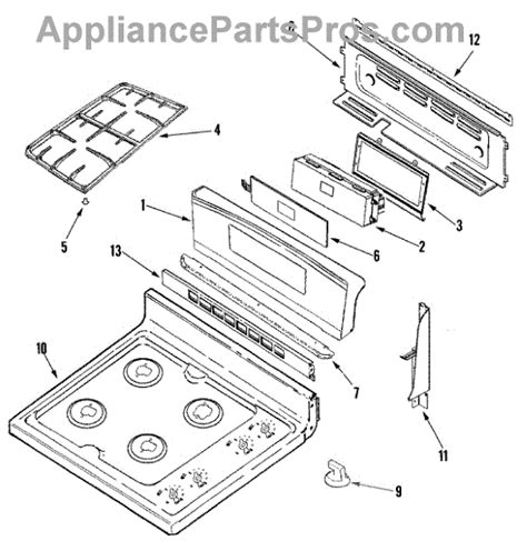 jenn air oven parts diagram parts for jenn air jgr8890adp panel top