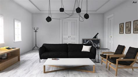 of scandinavian interior with sketchup vray and