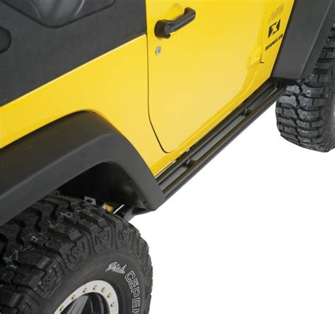 Jeep Step Rails Info On Rock Rail And Tubular Side Steps On Jk14 Jeep