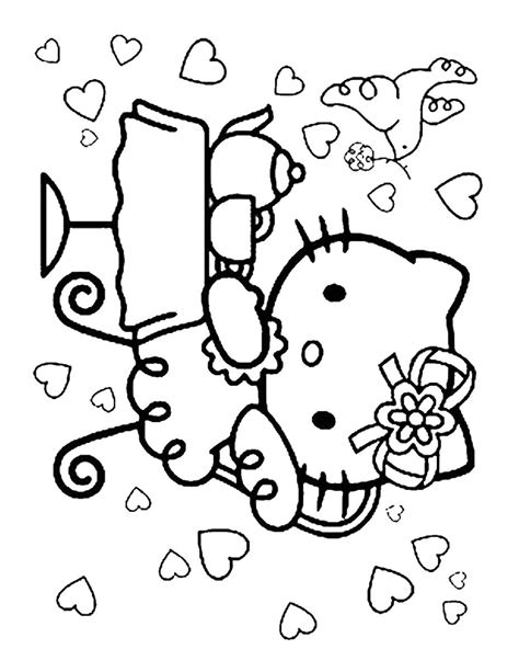 hello kitty baking coloring pages hello kitty baking coloring pages has baked a cake and