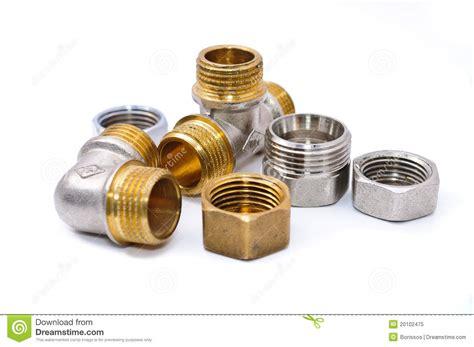 Plumbing Couplers by Metal Plumbing Fittings Royalty Free Stock Photo Image