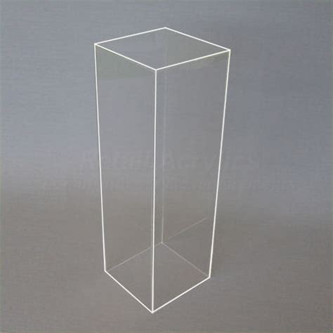 Trade Show Pedestals 40cm Square Clear Acrylic Display Pedestal Plinth 60cm
