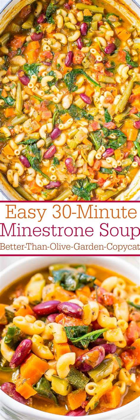17 best ideas about easy minestrone soup on