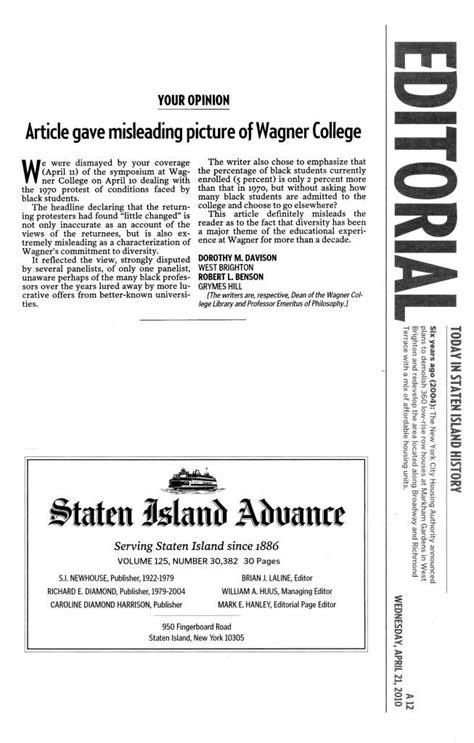 College Of Staten Island Letter Of Recommendation Responses To Advance Story On Cunard Occupation Symposium Newsroom