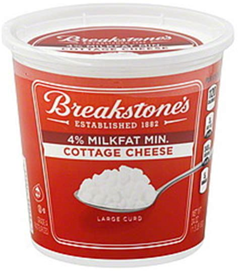 breakstones cottage cheese large curd 4 milkfat min 24