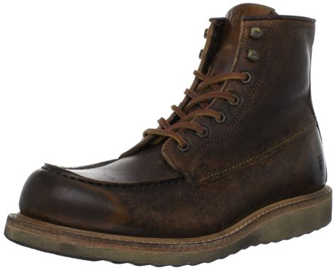 frye frye mens dakota wedge boot in brown for cognac