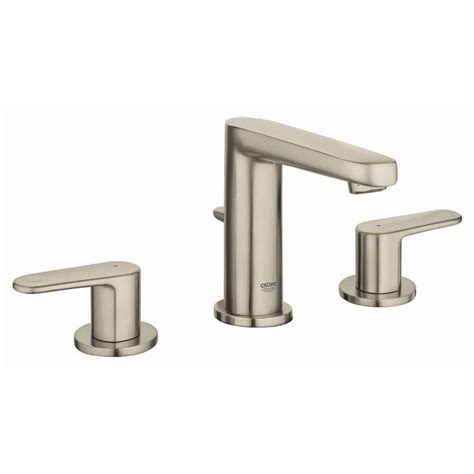 Grohe Europlus Kitchen Faucet Shop Grohe Europlus Brushed Nickel 2 Handle Widespread Bathroom Faucet At Lowes