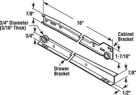 Prime Line Drawer Slides by 3 Prime Line Products R 7210 Drawer Slide Kit 15 3