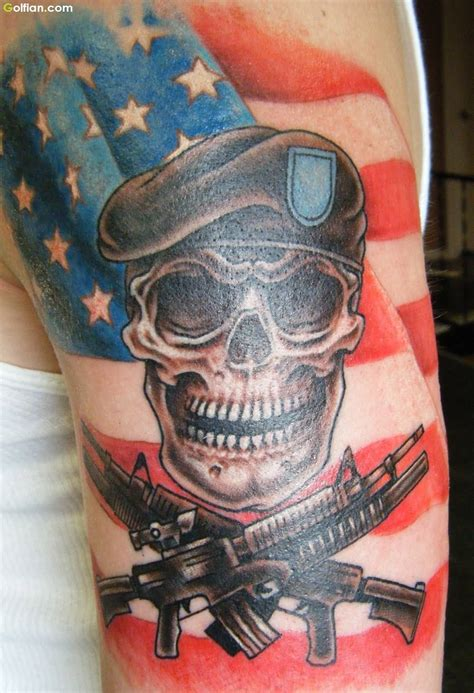 army skull tattoo designs 65 horrible army skull pictures scary skull