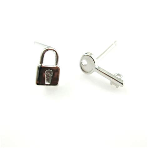 earring posts for jewelry wholesale rhodium plated sterling silver lock and