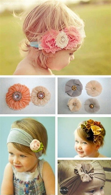 a beautiful bunch of diy baby headbands for your flower baby things