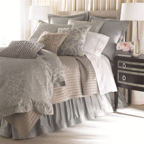 lili alessandra bedding lili alessandra jackie in luxurious silk tencel fabric in blue with silver jacquard