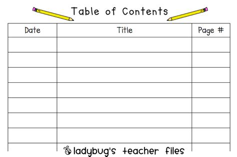 best table of contents template table of contents template for www imgkid the
