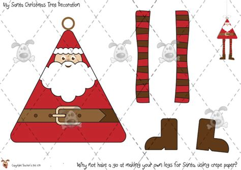 printable christmas decorations classroom teacher s pet santa tree decorations premium printable