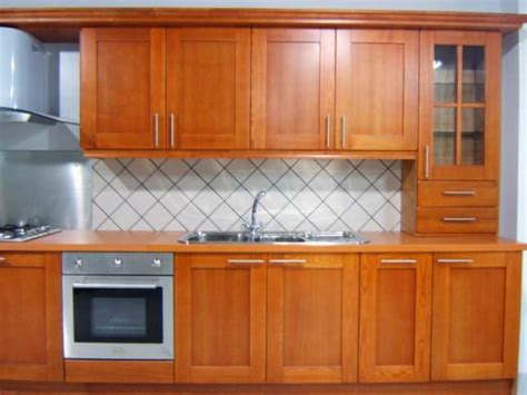 timber kitchen cabinets in mueble muebles de cocina