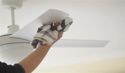 how to clean ceiling fans how to clean a ceiling fan the organised