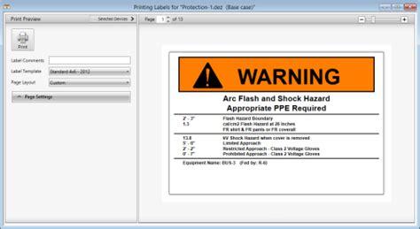 Printing Arc Flash Labels Arc Flash Label Template