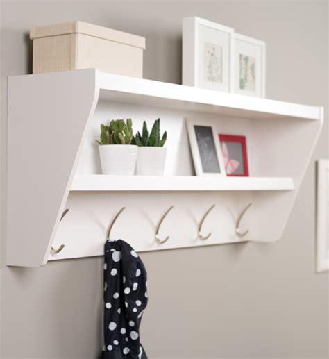 Shelf With Hooks by Entryway Coat Rack With Shelf