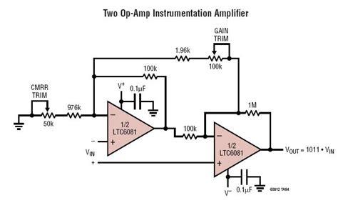 wheatstone bridge ltspice solutions ltc6081 two op instrumentation lifier