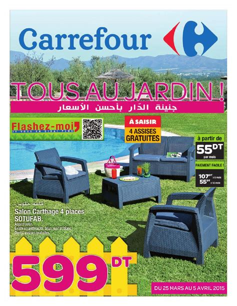 Ac Carrefour beautiful table de jardin en plastique carrefour