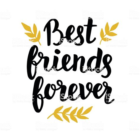 A Best Friend best friends forever stock vector more images of