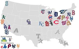 map of major league baseball teams maps of the united