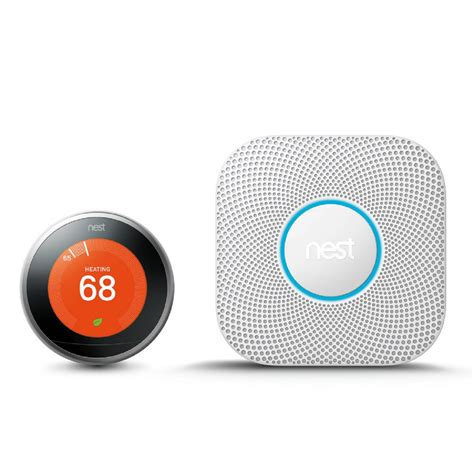 nest learning thermostat and protect battery smoke and