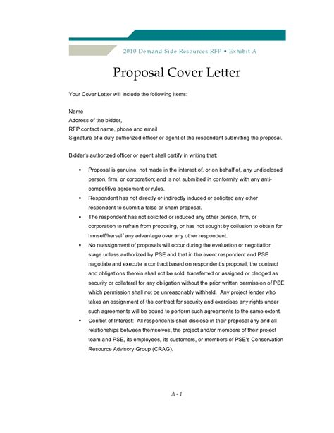 Rfp Cover Letter Examples   Best Letter Sample