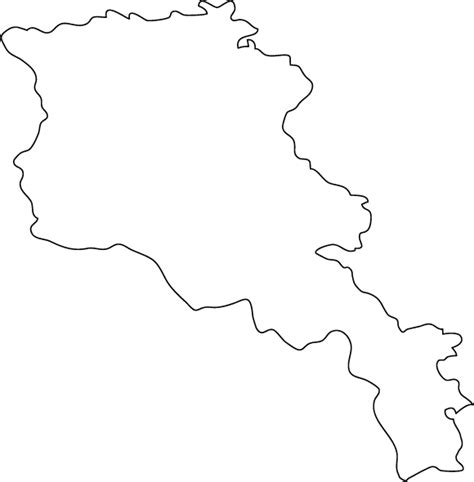 Country Outline by Armenia Outline Map