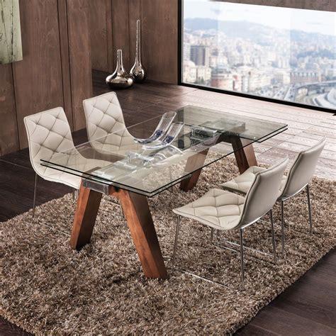 tavolo acciaio e vetro albenga tavolo da pranzo allungabile in legno massello