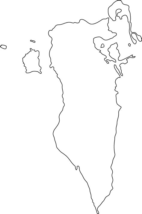 Country Outline by Map Of Bahrain State Of Bahrain Maps Mapsof Net