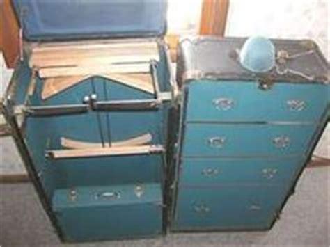 antique vintage large steamer wardrobe trunk 1907 humped