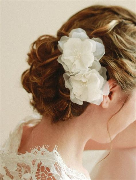 Beautiful Hari On Pinterest 97 Pins | flower bridal wedding hair pin bridal chiffon by