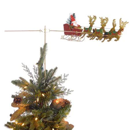 moving santa tree topper tass designs flying santa animated tree topper rotates around the tree walmart