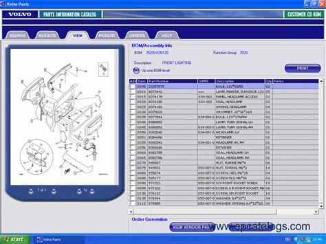 volvo truck parts catalog volvo vn series truck