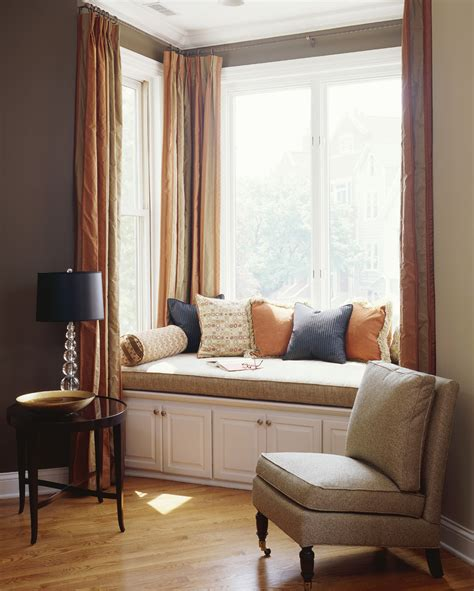 bay window bench seat how to solve the curtain problem when you have bay windows