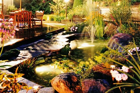 underwater solar pond lights install diy lighting new zealand handyman magazine