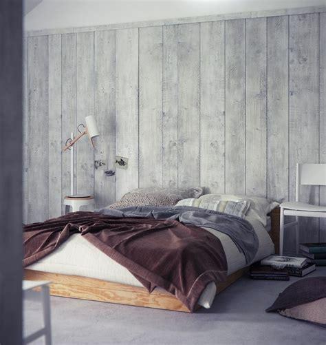 tapeten schlafzimmer tapete in holzoptik 24 effektvolle wandgestaltungsideen