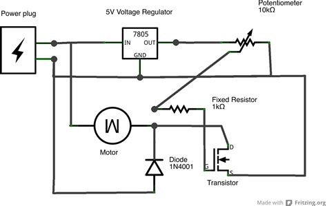 voltage controlled resistor transistor physical computing at itp tutorials using a transistor to a high current load